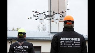 Fighting Fire with Drones : Drones developed by Latvian Company Aerones