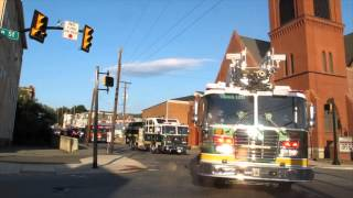 Apparatus Fire Truck Parade, Citizen's Bazaar, Block Party, Tamaqua, 7-11-2014
