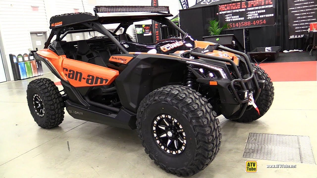 Side By Side Atv >> 2019 Can Am Maverick Xds 1000 Turbo Side By Side Atv Walkaround 2018 Drummondville Atv Show