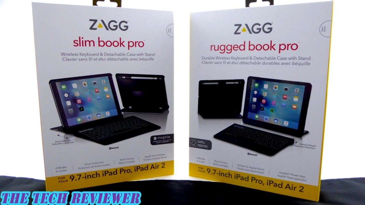 75e166e6cee Zagg Rugged Book Pro & Slim Book Pro: Outstanding Keyboard Cases for iPad  Pro 9.7!