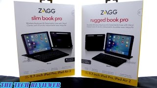 zagg rugged book pro slim book pro outstanding keyboard cases for ipad pro 9 7