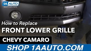 How to Replace Install Front Lower Grille 11 Chevy Camaro