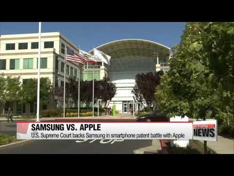 U S  Supreme Court backs Samsung in smartphone patent battle with Apple  Supreme Court backs Samsung