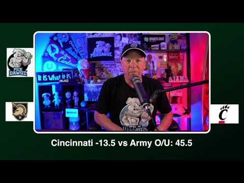 Cincinnati vs Army Free College Football Picks and Predictions CFB Tips Saturday 9/26/20 | PickDawgz (skip to 33s)