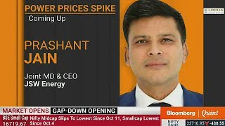 Prashant Jain, Joint MD & CEO, JSW Energy in BloombergQuint