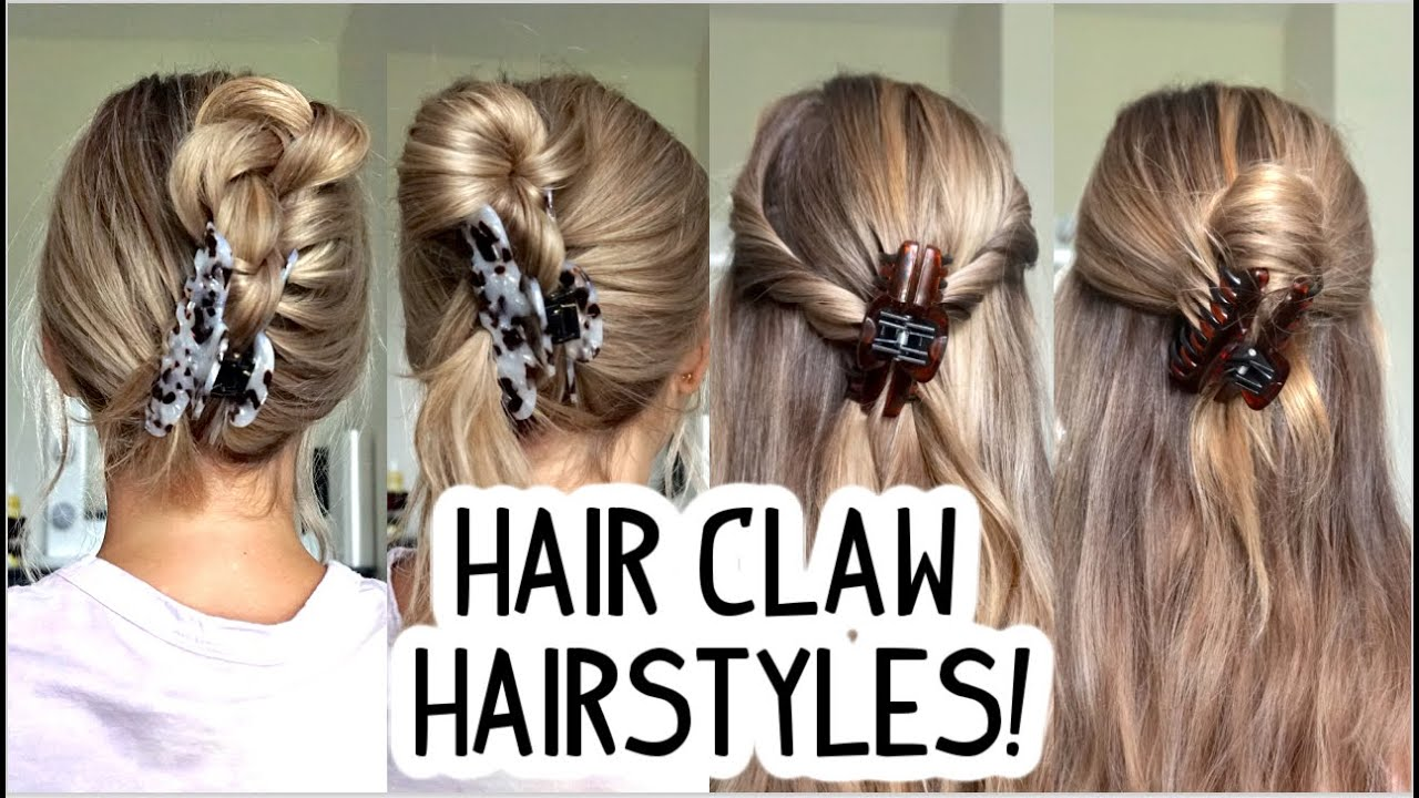 HOW TO EASY & QUICK CLAW CLIP HAIRSTYLES Short, Medium, and Long  Hairstyles