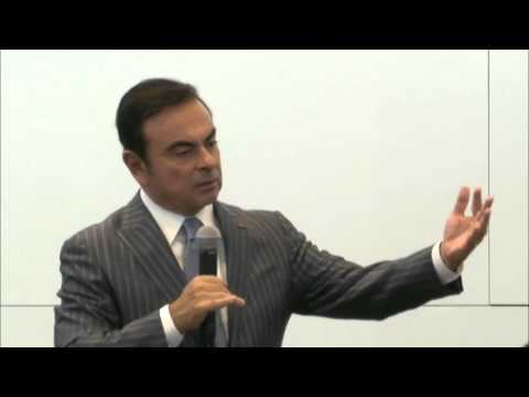 Renault-Nissan CEO Ghosn Tokyo Motor Show media roundtable (Japanese)