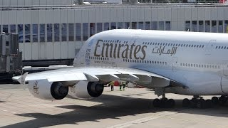 Emirates Airbus A380-800 at Düsseldorf Airport