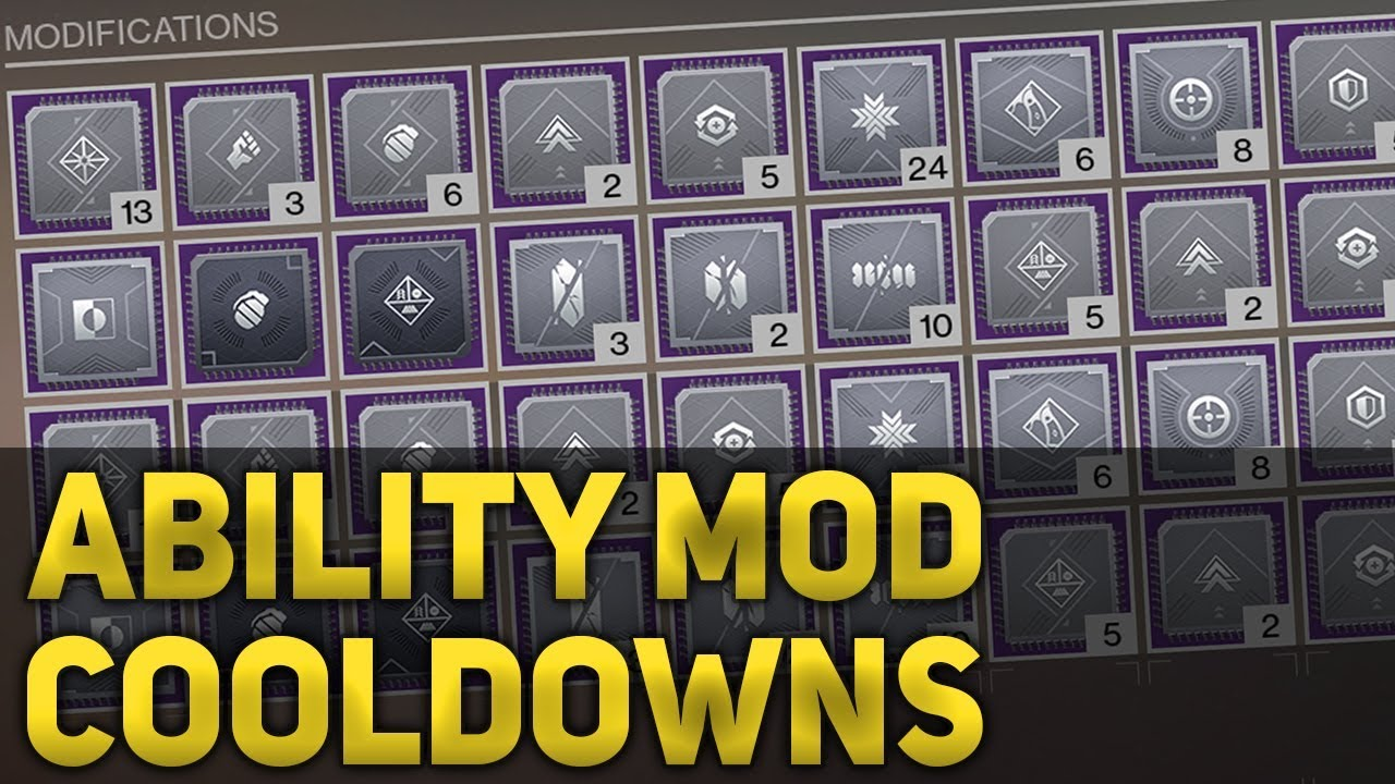 All Ability Cooldown Mod Times Breakdown - Destiny 2 Forsaken