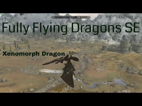 Fully Flying Dragons SE Skyrim Special Edition Mod Showcase