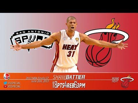 2013.06.20 NBA Finals G7 Spurs vs Heat Shane Battier Highlights, 18 Points, 6 3s!