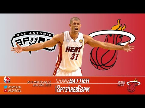 2013.06.20 NBA Finals G7 Spurs vs Heat Shane Battier Highlights, 18 Points, 6 3s!