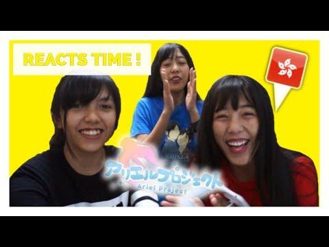 Indonesia Idol LuSca React to Idol Hong Kong Ariel Project 天使かよ