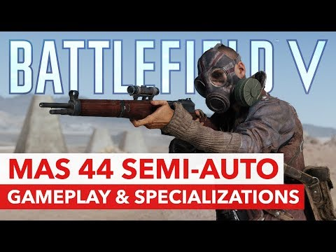 Battlefield V: MAS 44 Semi-Auto Rifle - Gameplay & Specialization of the new Assault weapon! thumbnail