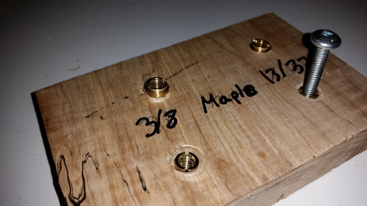 Alternative Method to Properly Drive Insert Nuts in Hard