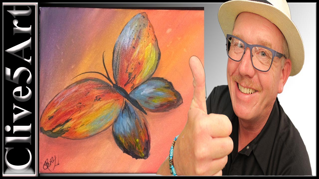 Easy, Butterfly, acrylic painting for beginners, - YouTube for Butterfly Painting Designs  58cpg