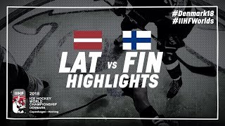 Game Highlights: Latvia vs Finland May 6 2018 | #IIHFWorlds 2018