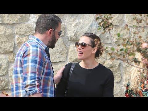 Ben Affleck And Jennifer Garner Share A Tender Moment After Church