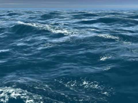 3d sea-ocean waves animation - YouTube