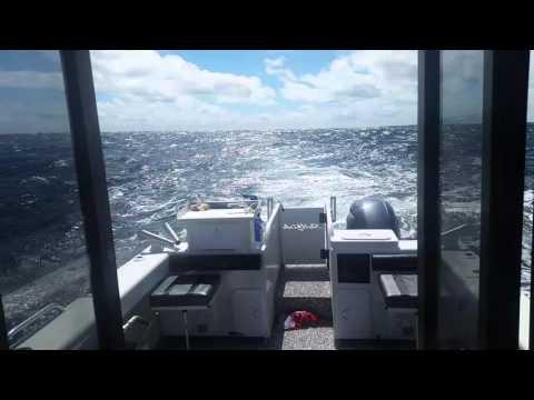 Sailfish S9 Aluminium Catamaran 20 knotts Leeming WA May 2016