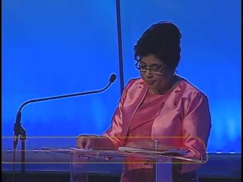 Trinidad and Tobago Diamond Standard Awards Ceremony- The Honourable Carolyn Seepersad-Bachan