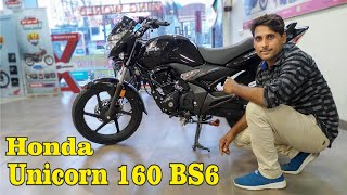 Honda Unicorn 160 BS6 Mileage Price Features  Full Review New Family Bike In 160cc