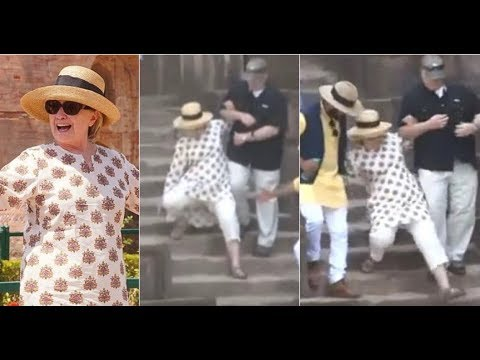 WATCH HUMA'S STRANGE REACTION TO HILLARY COLLAPSES IN INDIA! thumbnail