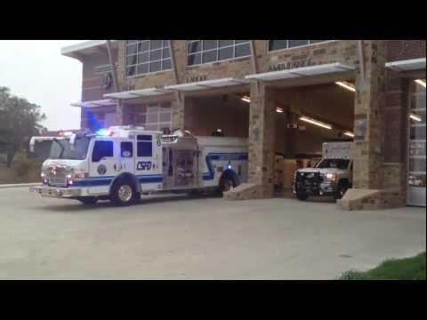 College Station FD Engine 726 & Medic 766 Responding to Medical Call