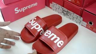 Обзор на шлепанцы Supreme