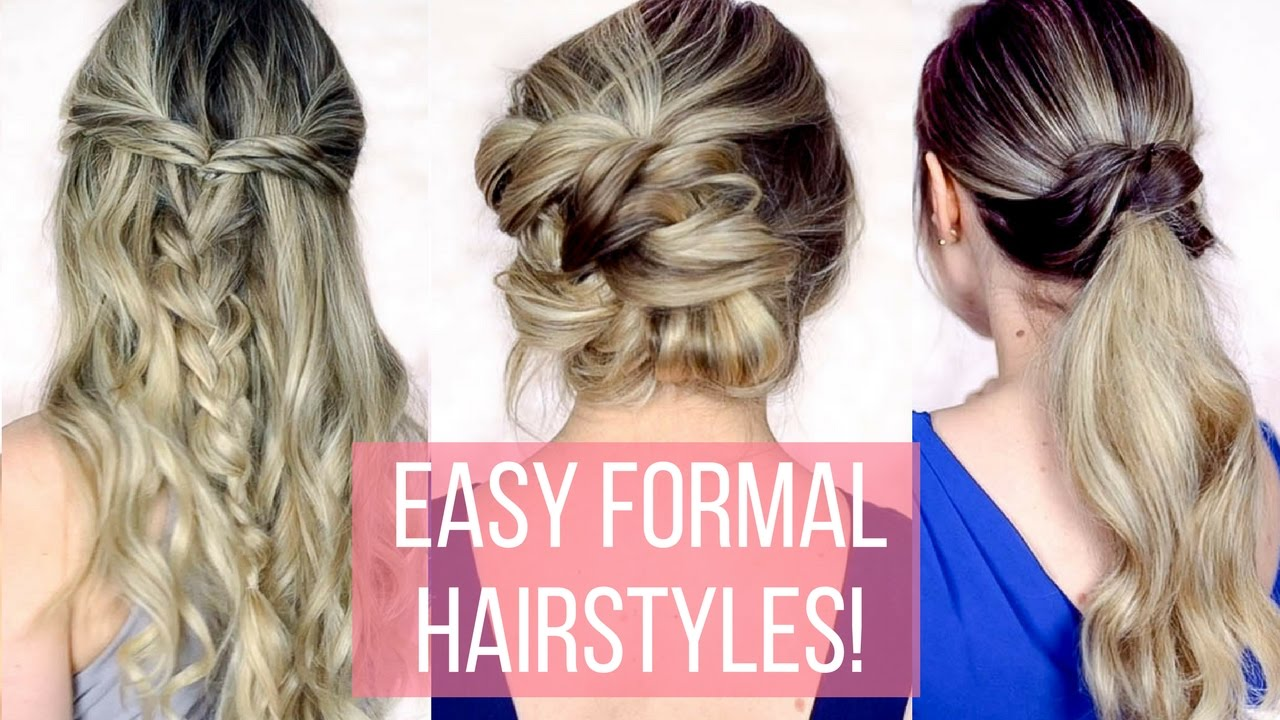 Prom Formal Hairstyles For Long Hair Hair Tutorial Youtube