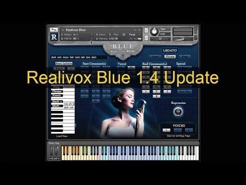 Realivox Blue vocal instrument for Kontakt updated