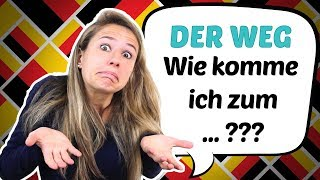 How to give DIREĊTIONS in GERMAN (