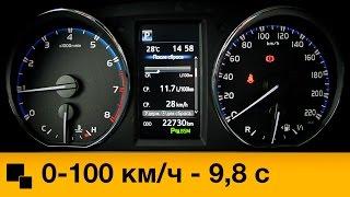 Toyota RAV4 2.5 4WD 2015 Разгон смотреть