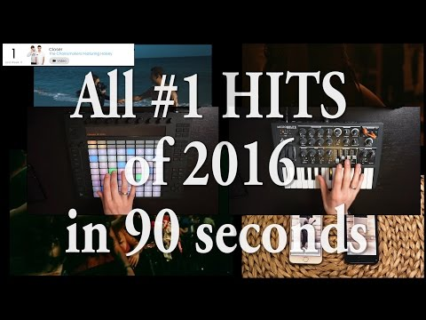 ALL #1 HITS of 2016 in under 90 seconds!