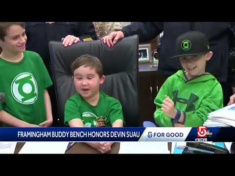 5 For Good: Framingham buddy bench honors #WhyNotDevin