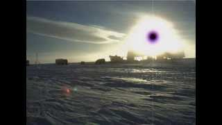 AMAZING!!! PURPLE SUN AT SOUTH POLE.