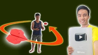Cách Gấp Máy Bay Boomerang Ver 42,  Boomerang Paper AirPlane #BoomerangPlane #XTT