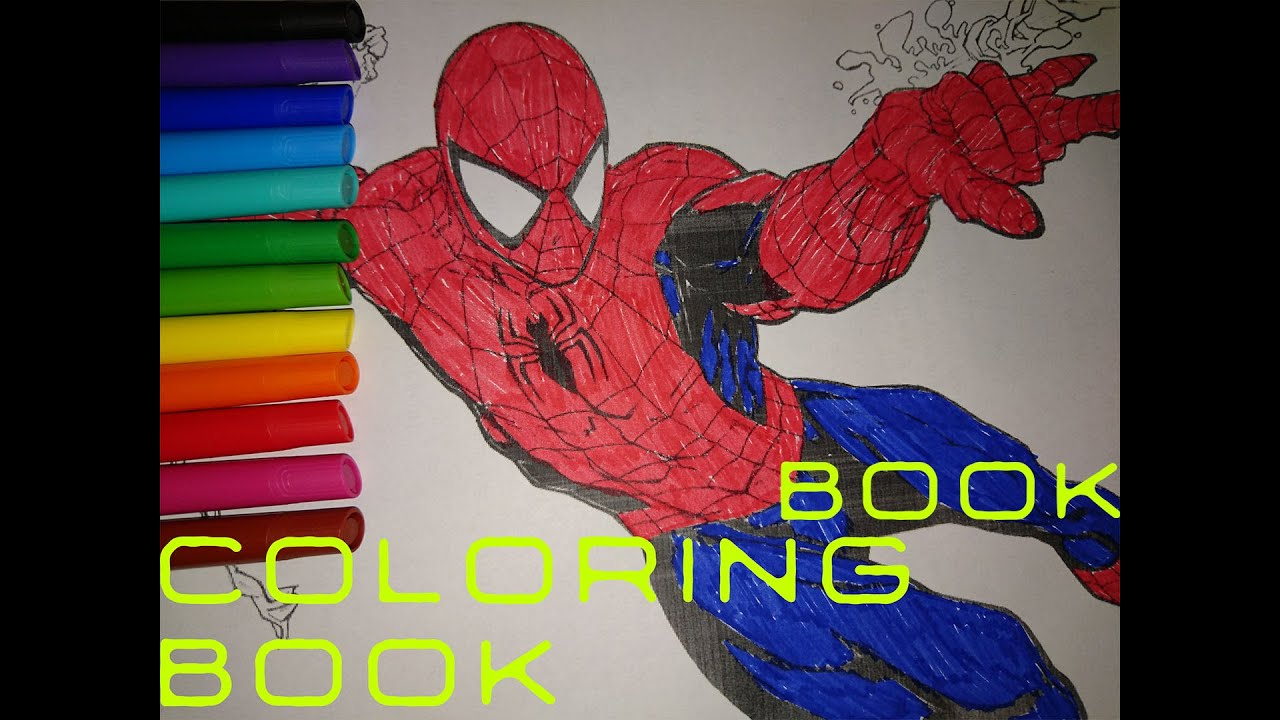 Ultimate Avengers Coloring Pages : Spiderman coloring book how to color avengers coloring pages