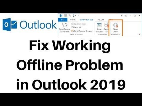 Fix Working Offline Problem In Outlook 2019