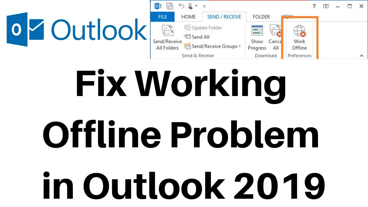outlook 2016 work offline is greyed out