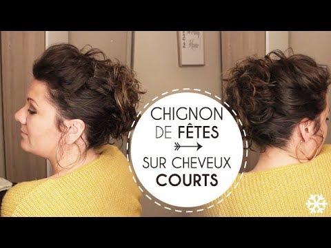 Chignon de fêtes sur CHEVEUX COURTS 🎄 | L.A Hairstyle Inspiration - YouTube