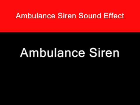 Ambulance Siren Sound Effect Audio Noise Emergency Animations Video Games