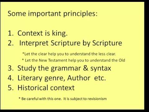 Exegesis and Hermeneutics - Lesson #7