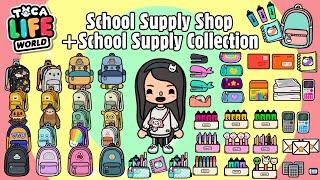Toca Life World School Supply Shop Makeover + School Supply Collection | Toca Boca | NecoLawPie