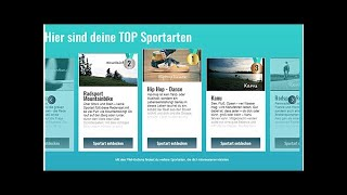ACTIV-O-MAT - Optimale Sportart mit neuem Online-Tool finden