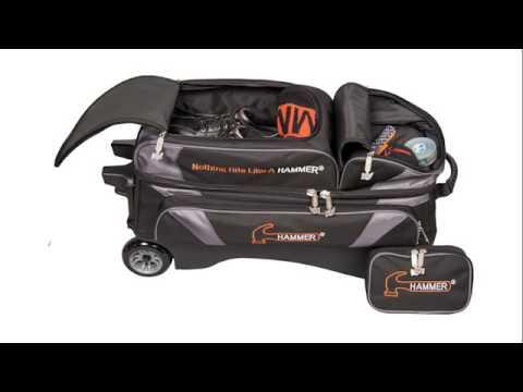 Hammer Premium 3 Bowling Ball Roller Bag