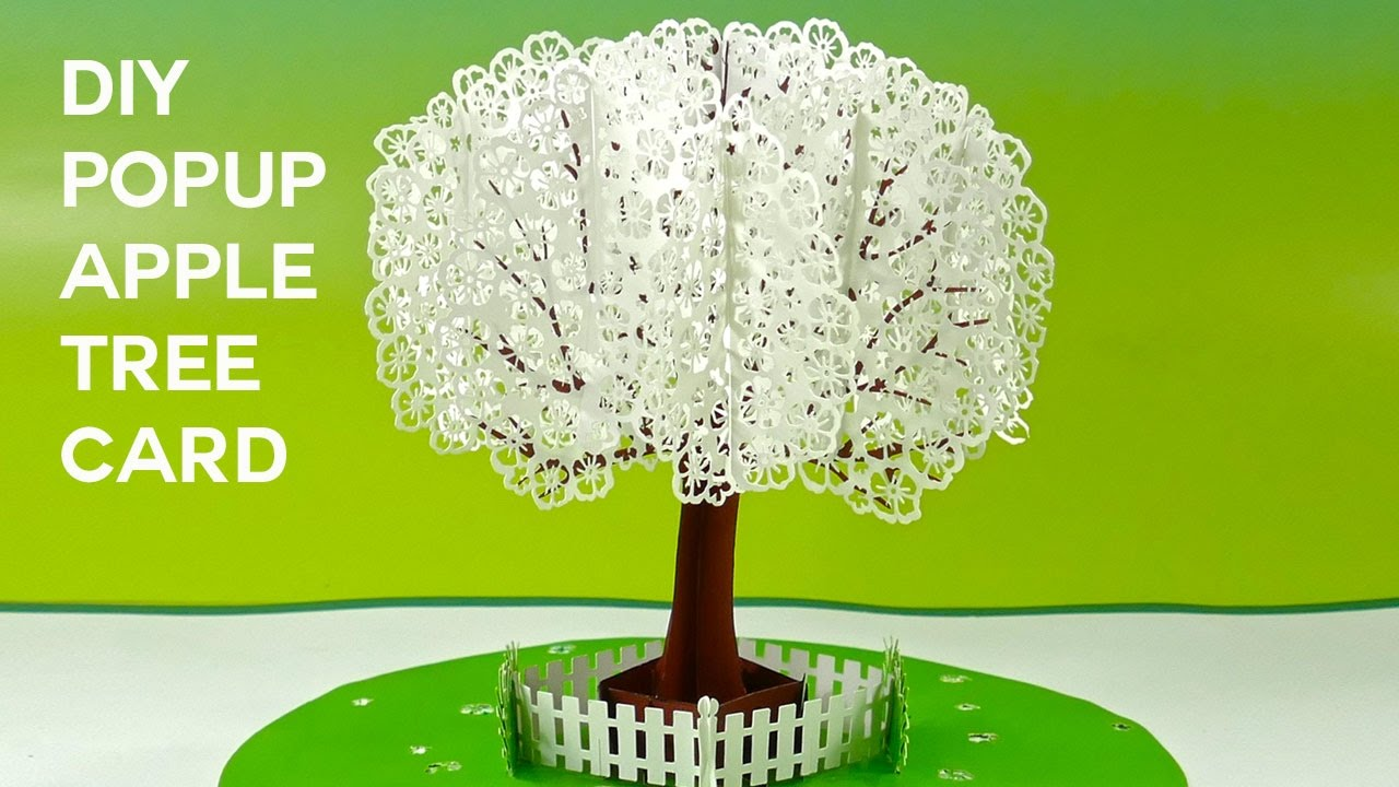Pop Up Apple Tree Card Tutorial 3D Sliceform On The