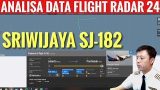 ANALISA DATA SRIWIJAYA AIR SJ-182 FLIGHT RADAR 24 - TANYA PILOT