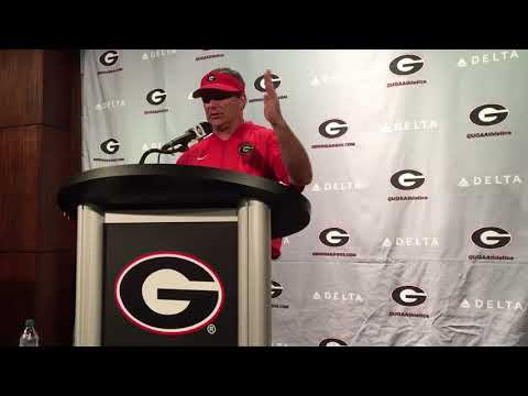 Kirby Smart on Georgia's starting offensive line going into 2017 - Aug. 19