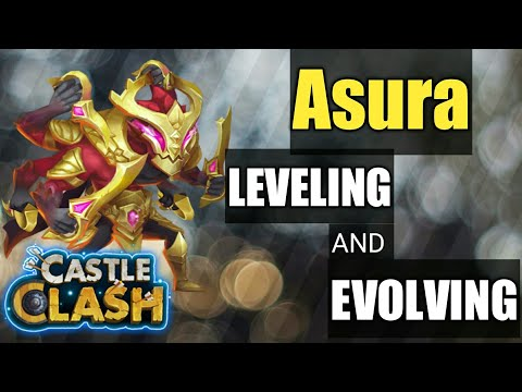 My First Asura, Leveling And Evolving   Castle Clash
